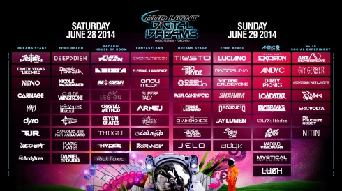 digital dream 2014 full line up